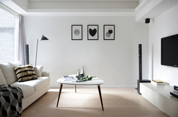 A-minimal-Scandinavian-style-to-the-living-room-in-black-and-white